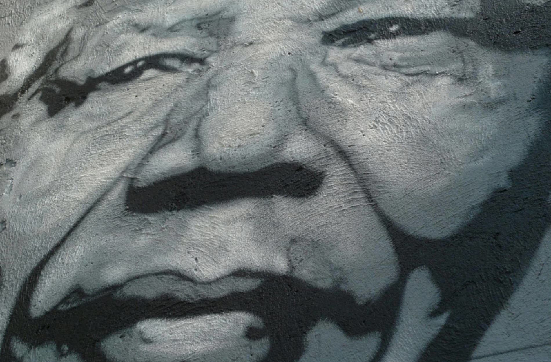 Nelson Mandela painted portrait