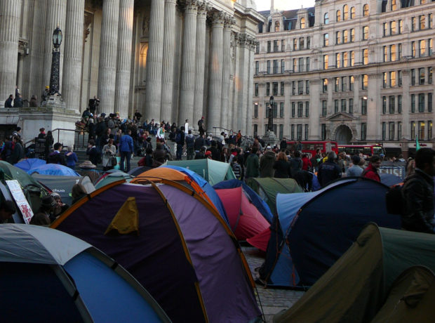 Occupy london protest tent city st pauls