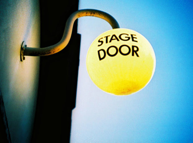 Stage door old vic