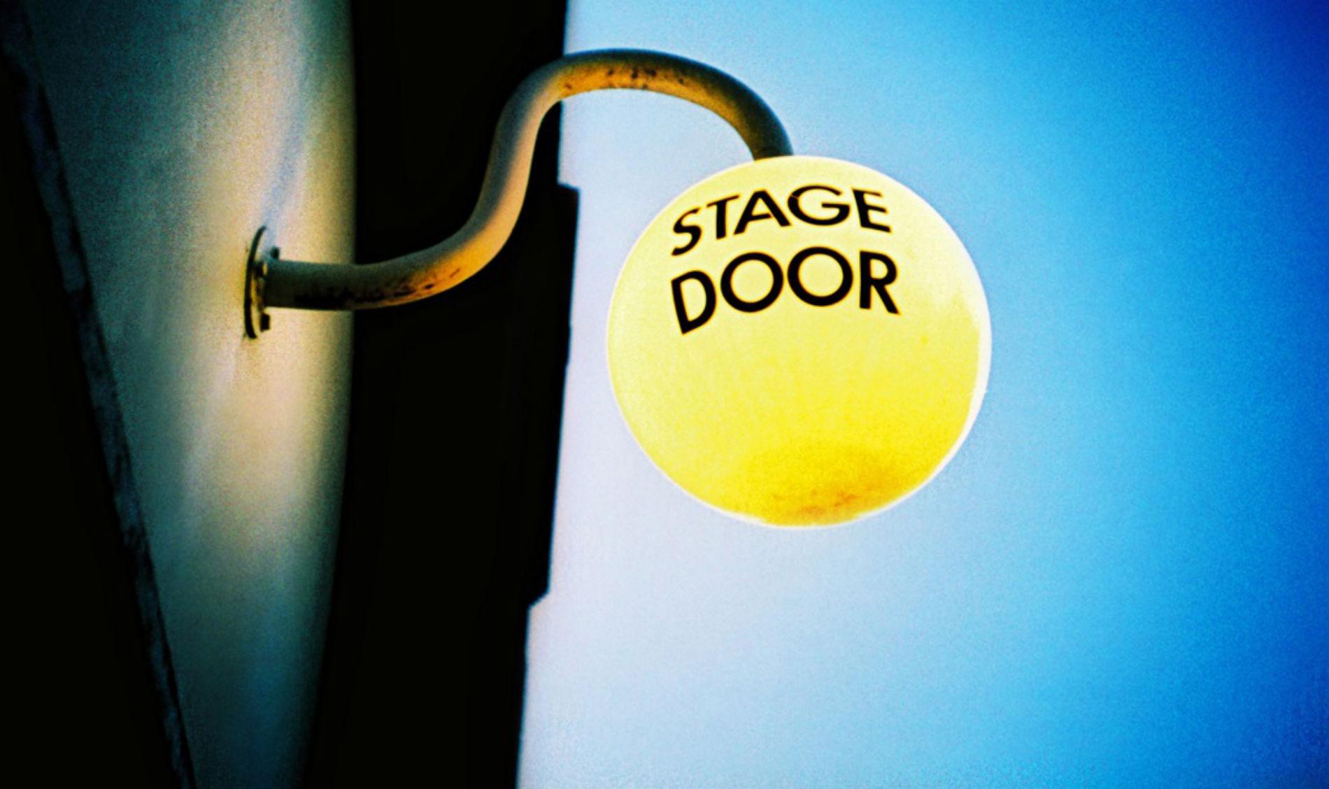 Stage door old vic