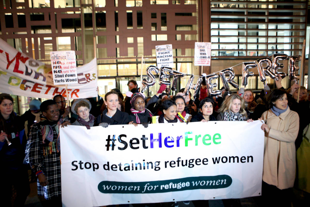 Women for refugee women-banner