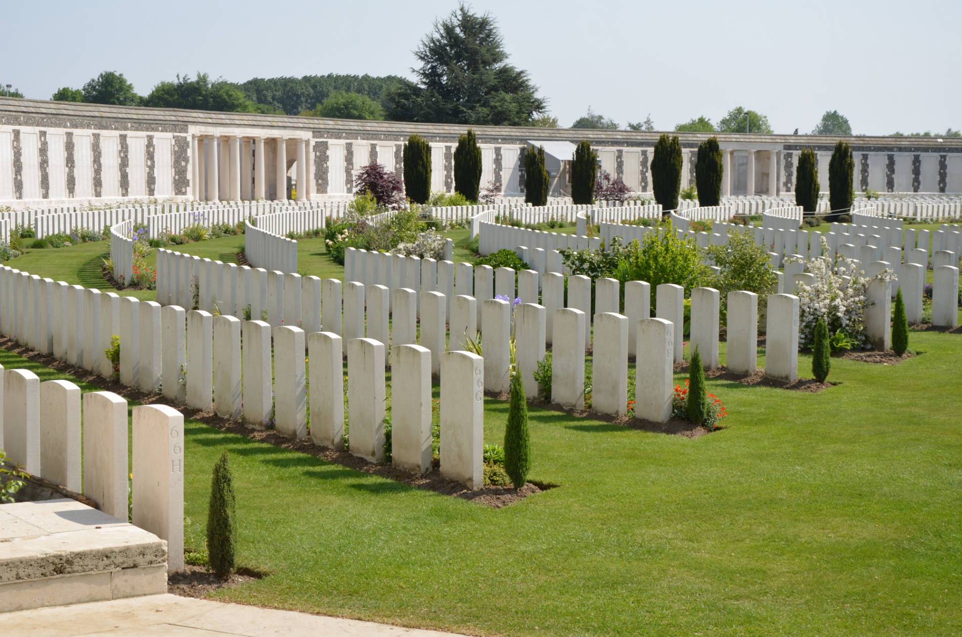 The graves of Tyne Cot cemetery.