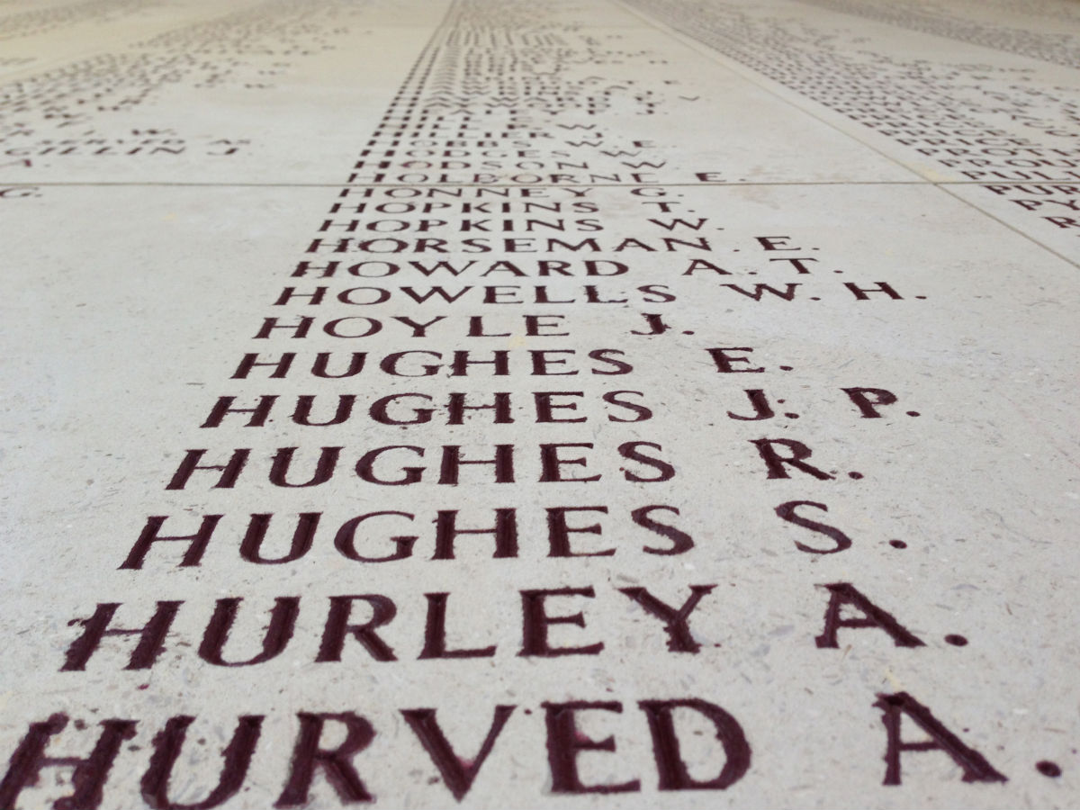 List of soldier's names, Ypres - Menin Gate - Last Post - 05