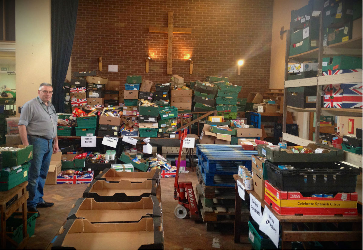 Foodbank distribution centre, Coventry