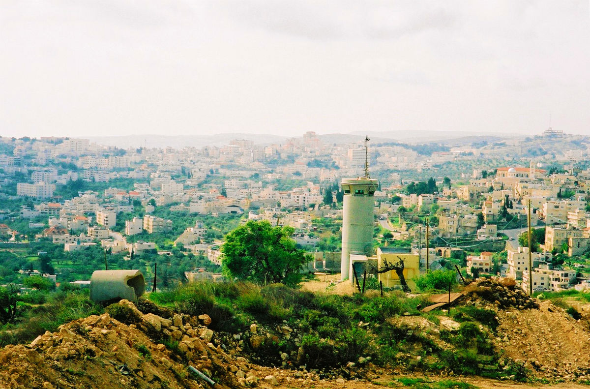 IDF watchtower West Bank. Photo by Sarahtz
