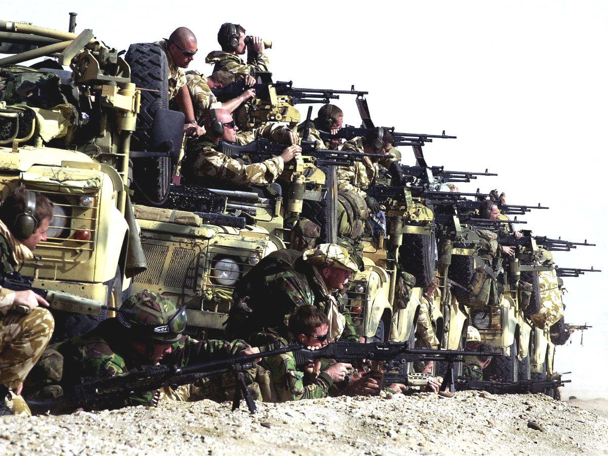 Royal Marines OP TELIC. Photo by Thomas McDonald