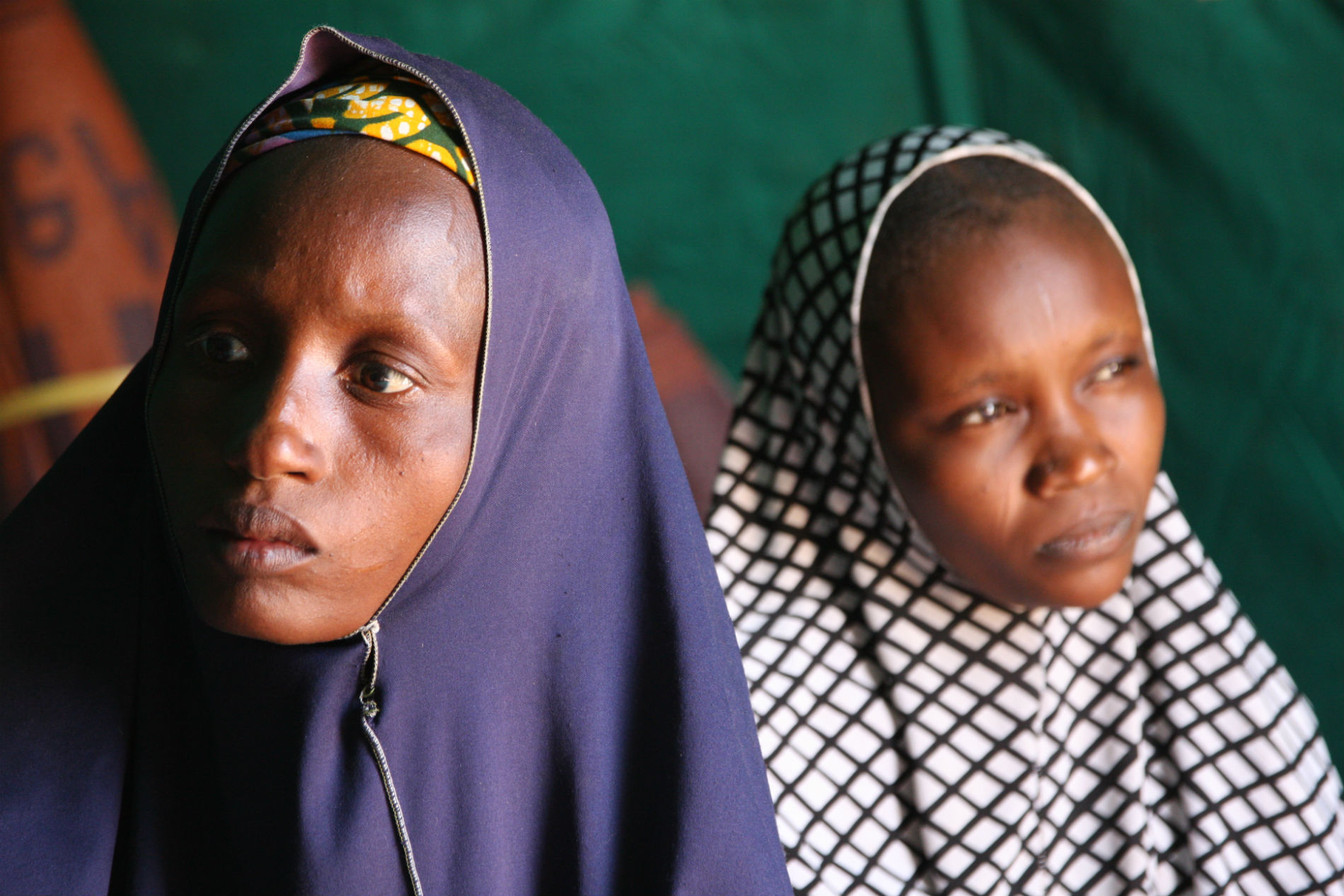 Nigerian refugees in Gagamari camp