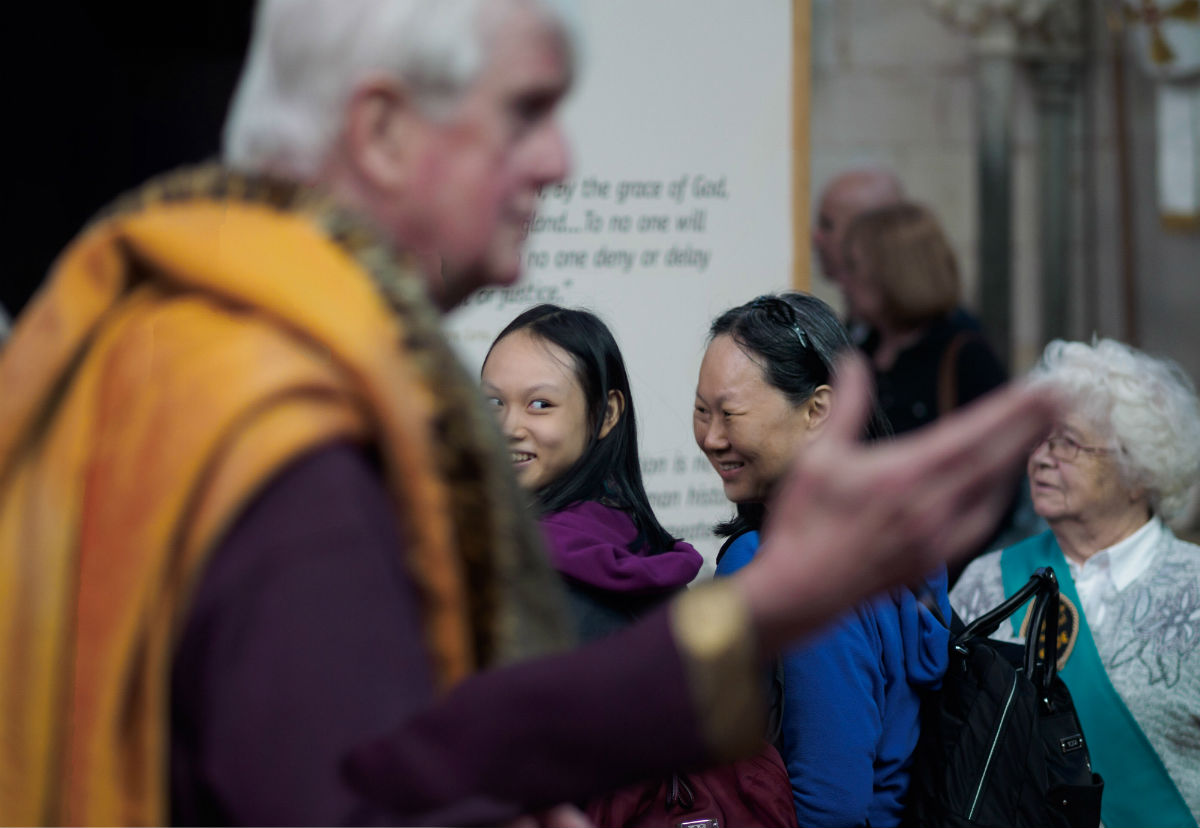 Visitors to Salisbury Cathedral and Magna Carta Exhibition - 9th May 2015 - by Ash Mills