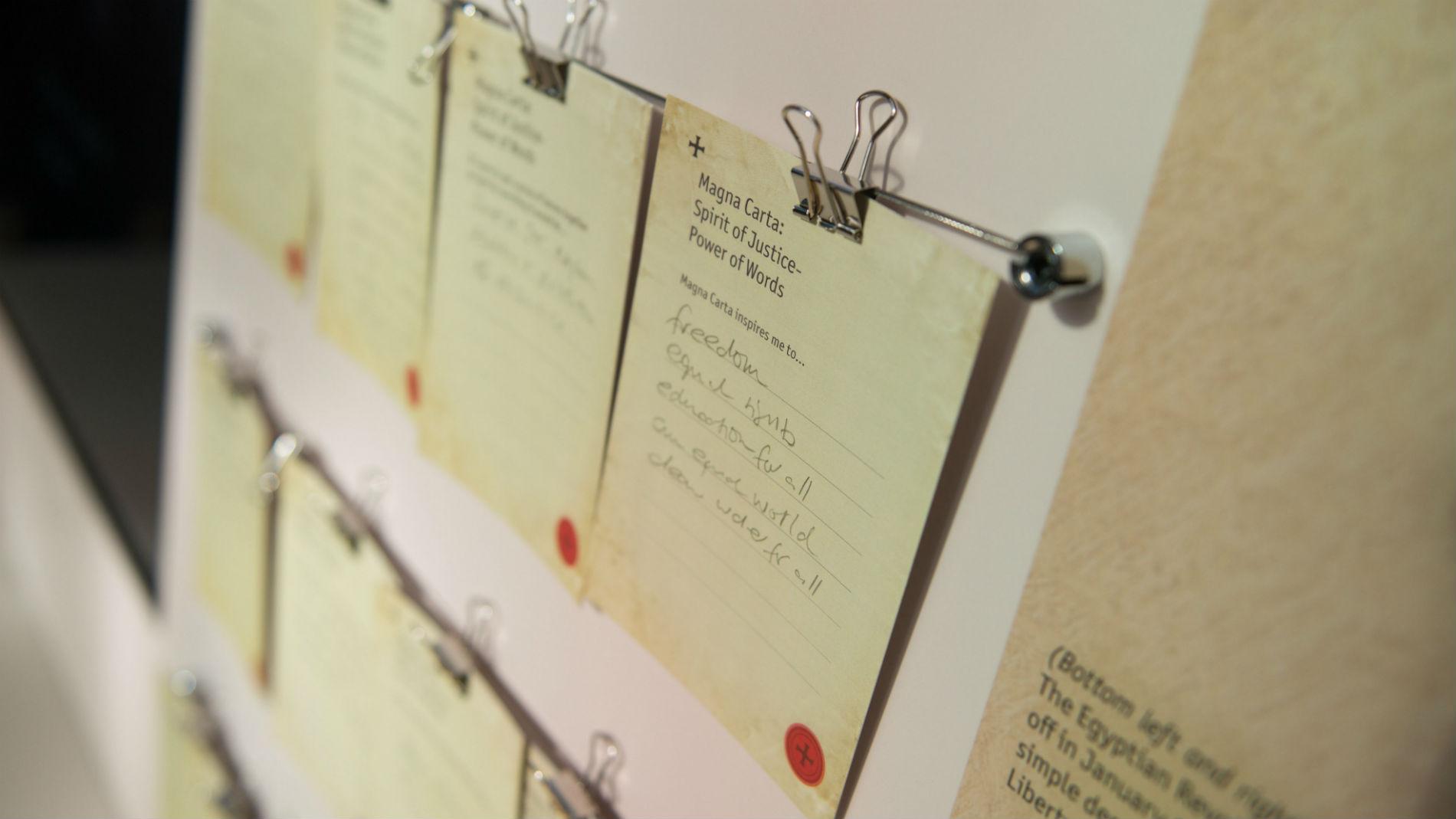 Banner Salisbury Cathedral - Magna Carta Exhibition 27thFeb- Ash Mills