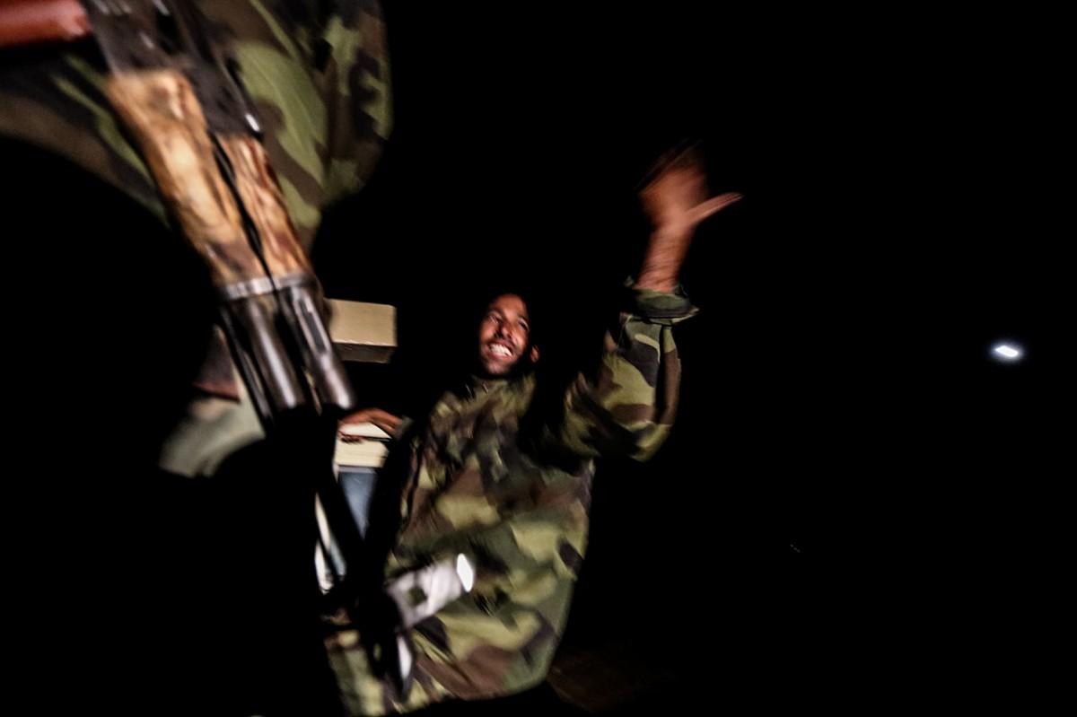 Night counter-terrorism patrols in Western Sahara's desert