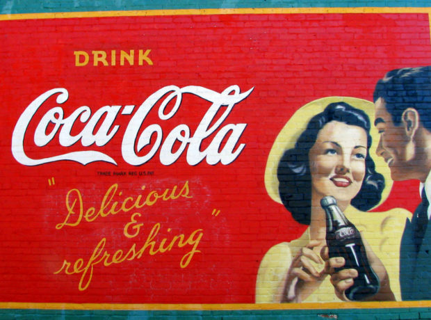 Acworth GA restored Coke Mural A. Photo by Brent Moore