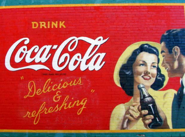 Acworth GA restored Coke Mural A. Photo by Brent Moore