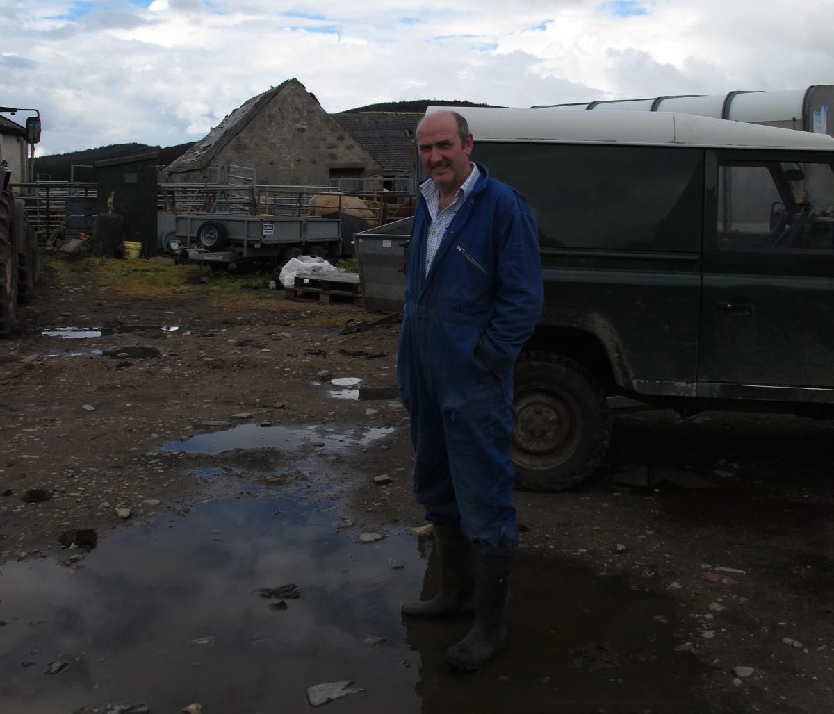 David MacQueen at Dalmagarry Farm
