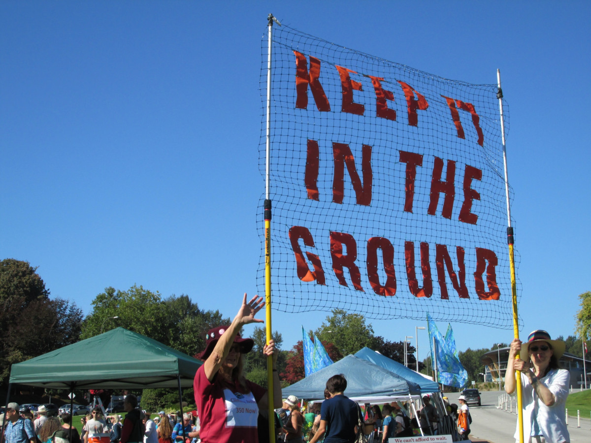 Anti Climate Change rally at Peace Arch by Robert Ashworth