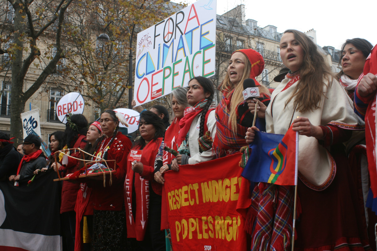 Members of the Indigenous Environmental Network at the final demonstration