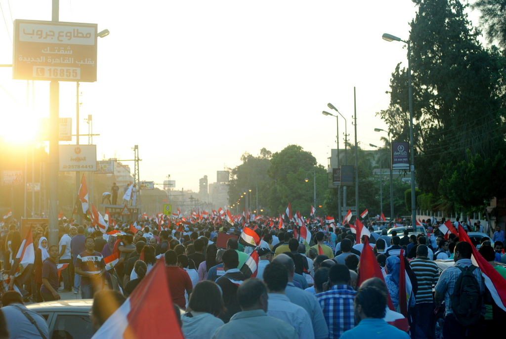 Anti-Morsi protest march in Cairo. Photo by Lilian Wagdy.