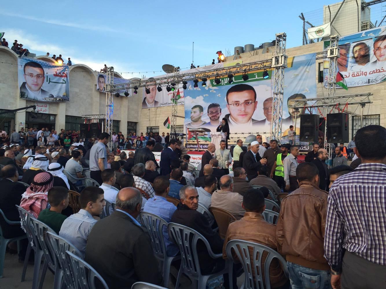 Celebrations in Hebron for Al-Qiq's release - Photo by Jordan Siegel