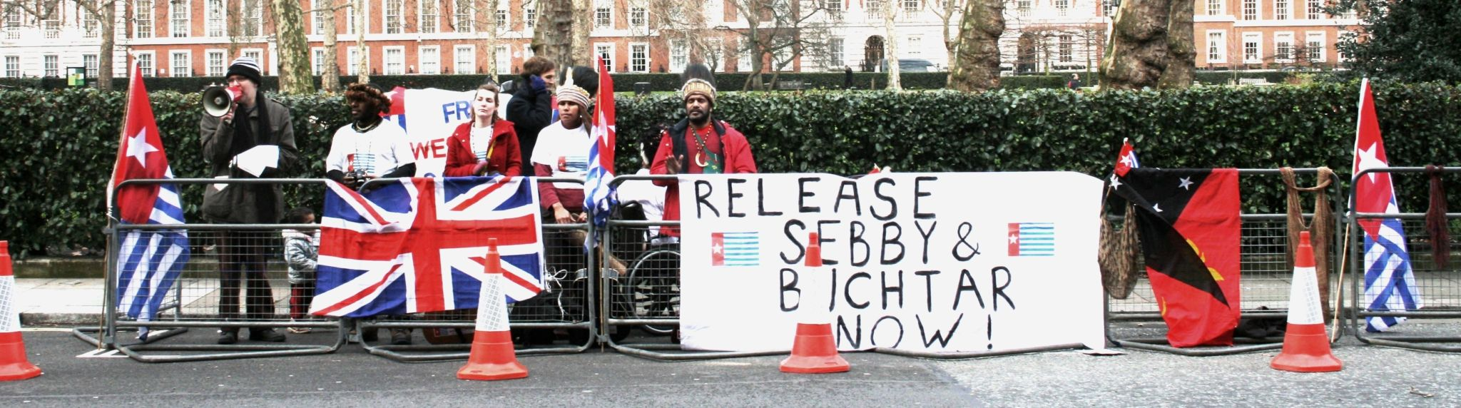 Rally for West Papua in London (Thom Chandler via Flickr)