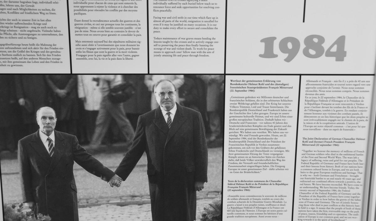 Kohl and Mitterrand 1984. Photo by appaloosa via Flikr
