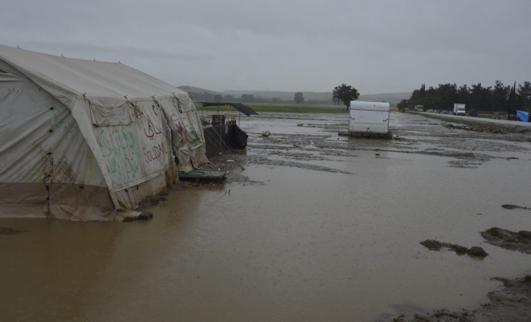 A glimpse of Idomeni makeshift camp after two days of rain