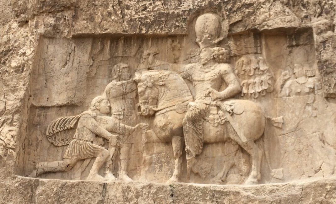 Naqsh Rostam, Shapur I The Great defeats the Romans. Photo by Chiara Ferroni.