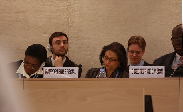 Image of Asma Jahangir (centre) by United States Mission Geneva