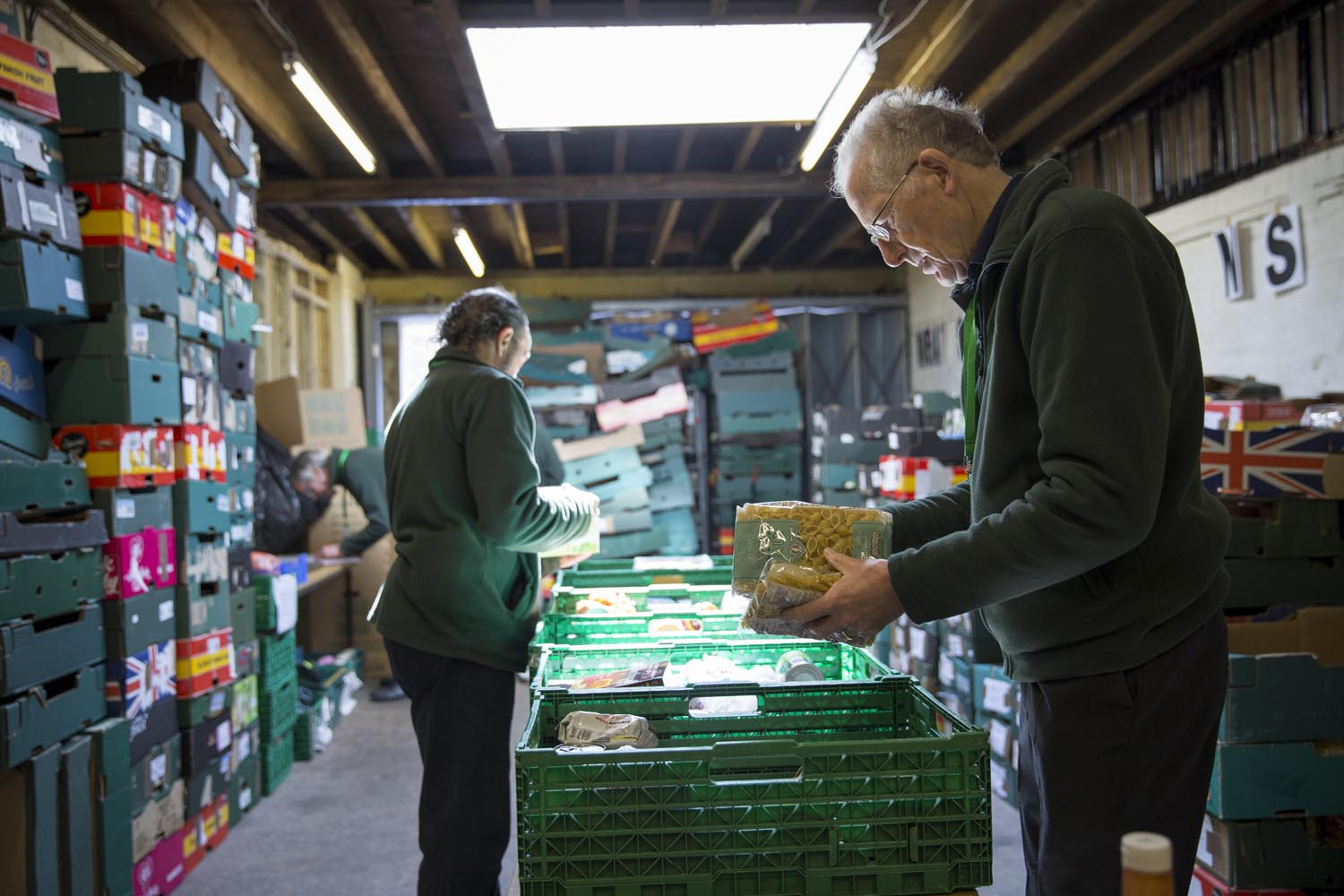 Sorting food in the warehouse - image by the Trussell Trust