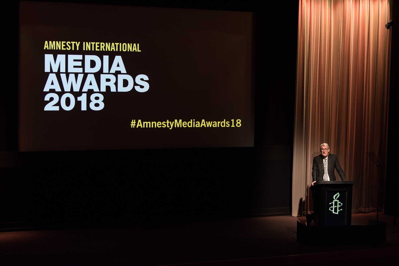 Jeremy Paxman at the Amnesty Media Awards 2018