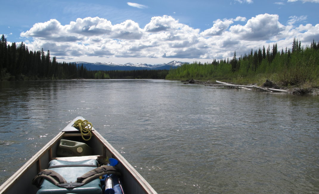 Adam's canoe on the Yukon River