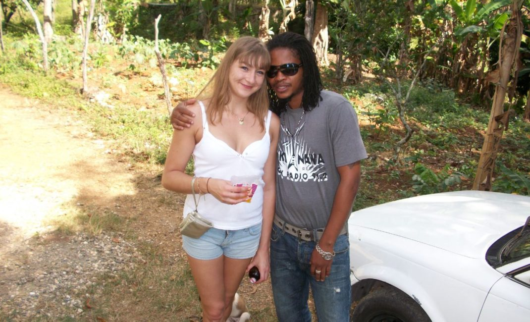Laura and Carlington in Jamaica (published with permission of Carlington's family)