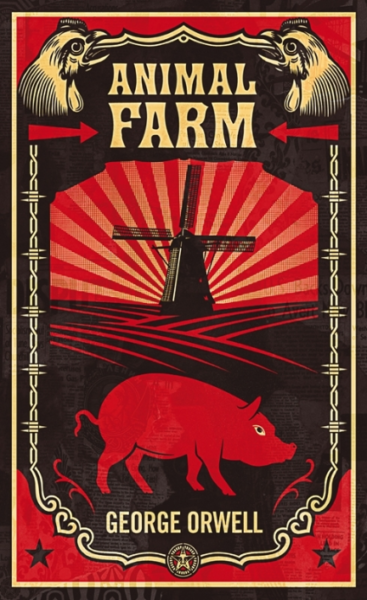 Cover of Animal Farm by George Orwell, published by Penguin