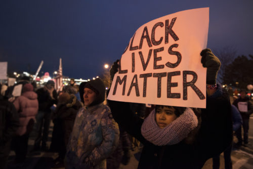 Black Lives matter rally for Mike Brown in Ferguson