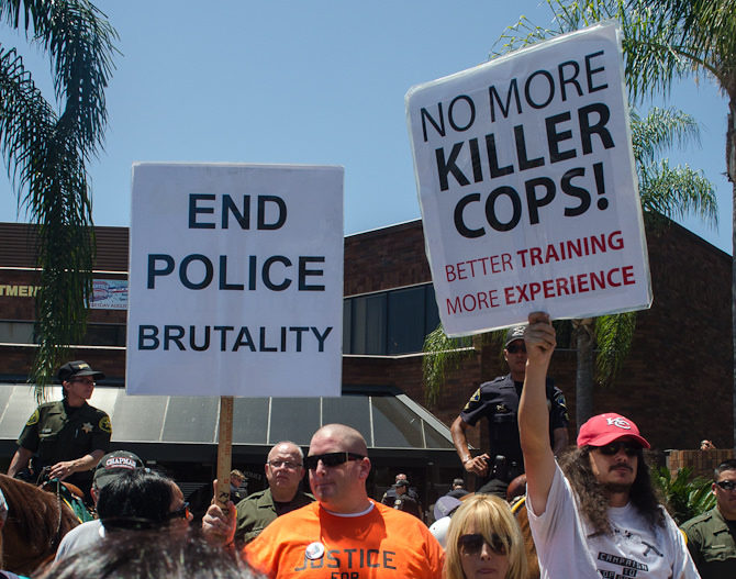 police shootings protest