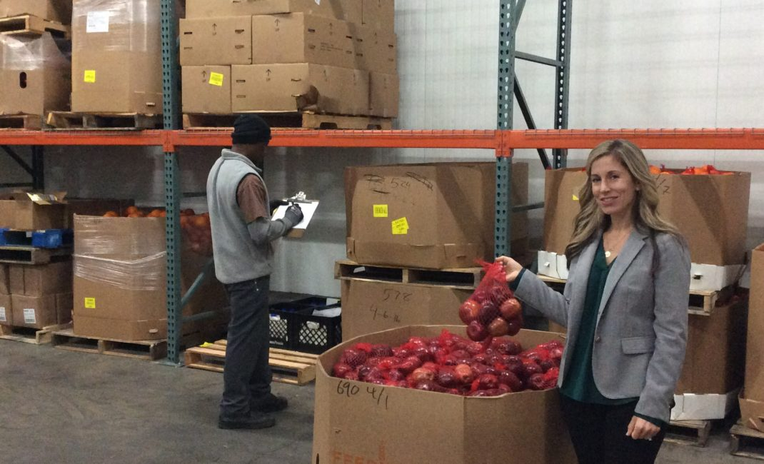 Alison Pratt at Alameda County Community Food Bank
