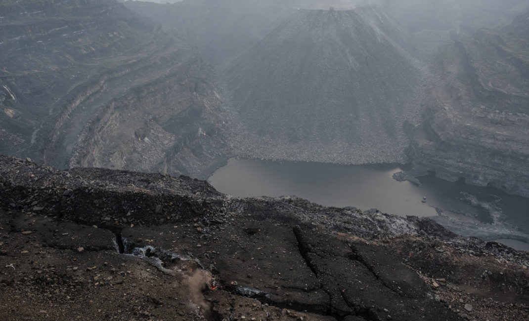 A coal mine in Jharia, in eastern India's Jharkhand state