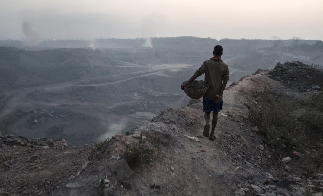 Underground fires coming to the surface in Jharia, India's largest coalfield