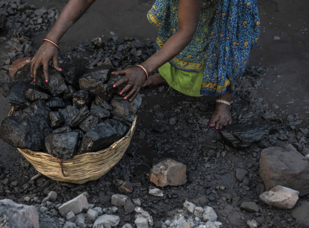 Miner loads fresh coking coal inside at Bharat Coking Coal Limited (BCCL)