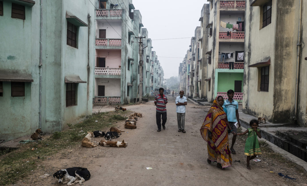 Street scenes in Belgaria, one of the townships built for the people who have lost their homes in Jharia
