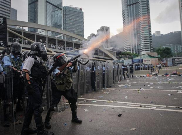 Hong Kong protests by Choy Fuk Sang