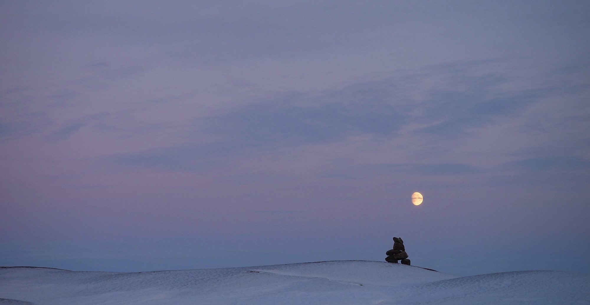 Fiona Paton arctic moon for Hugh Brody interview
