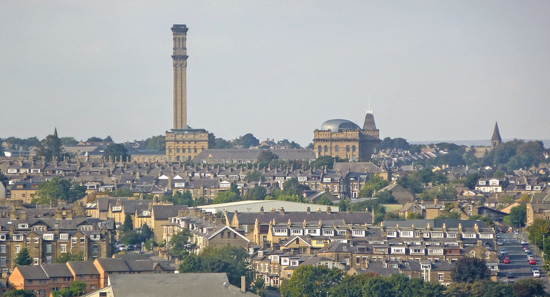 Bradford city rooftops cityscape horizonby Tim Green