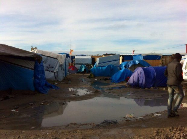 The Jungle refugee camp, Calais