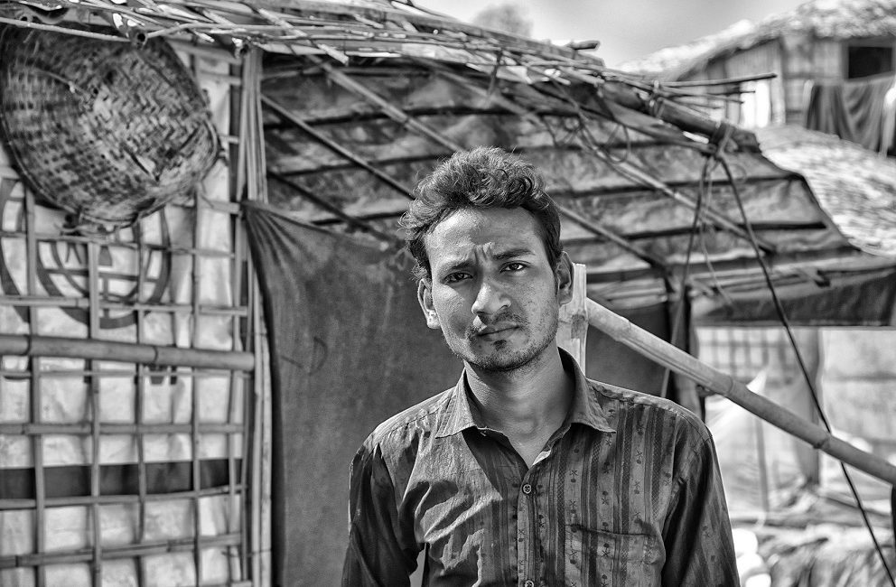 Foyazl Islam in the Balukhali Refugee Camp - by Francesc Galban